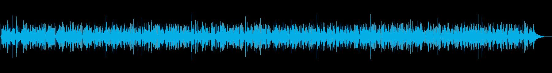 おしゃれなボサノバナイロンギターカフェ風の再生済みの波形