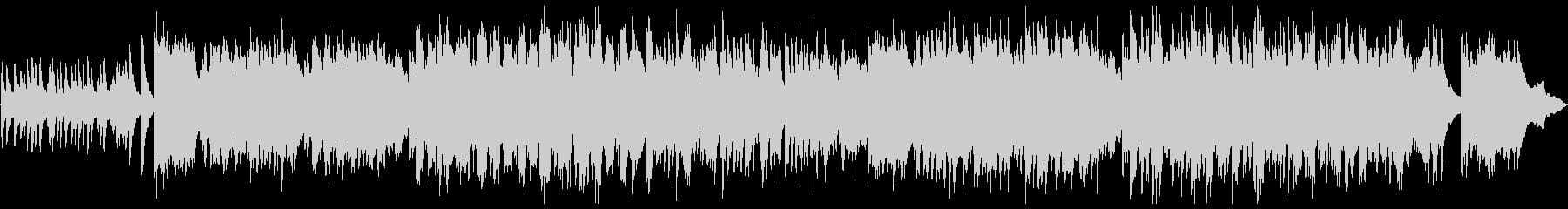 ピアノソロのノスタルジックなバラードの未再生の波形