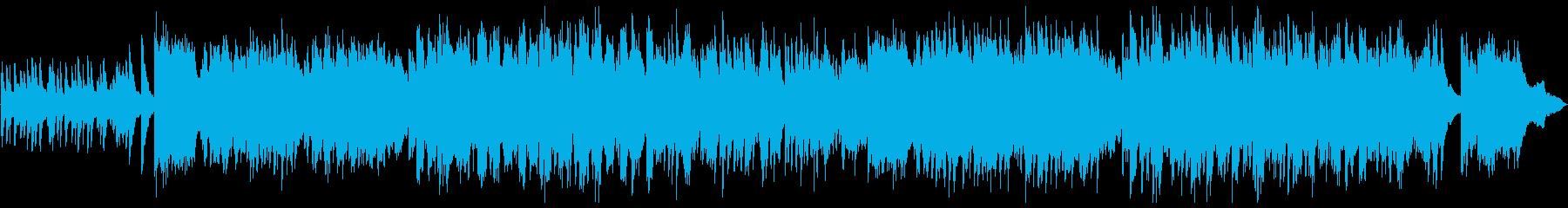 ピアノソロのノスタルジックなバラードの再生済みの波形