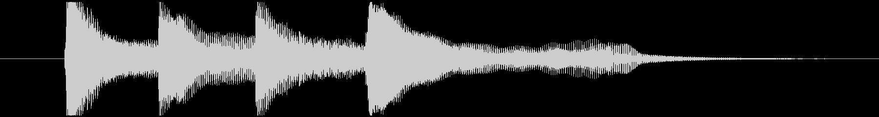 ピアノとチェロで上品なサウンドロゴの未再生の波形