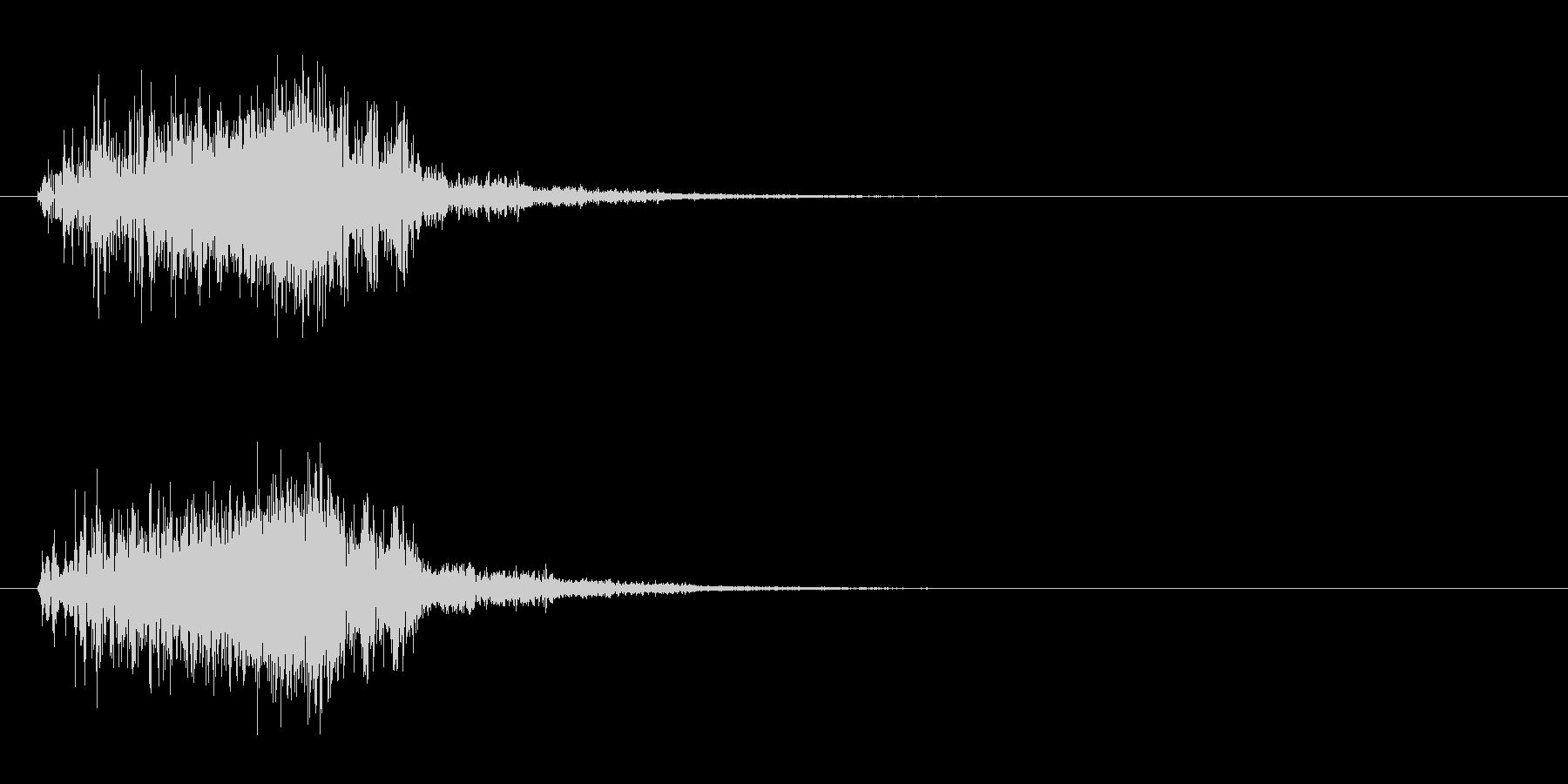 ギュイン(パワーアップ・ワープ・加速音)の未再生の波形