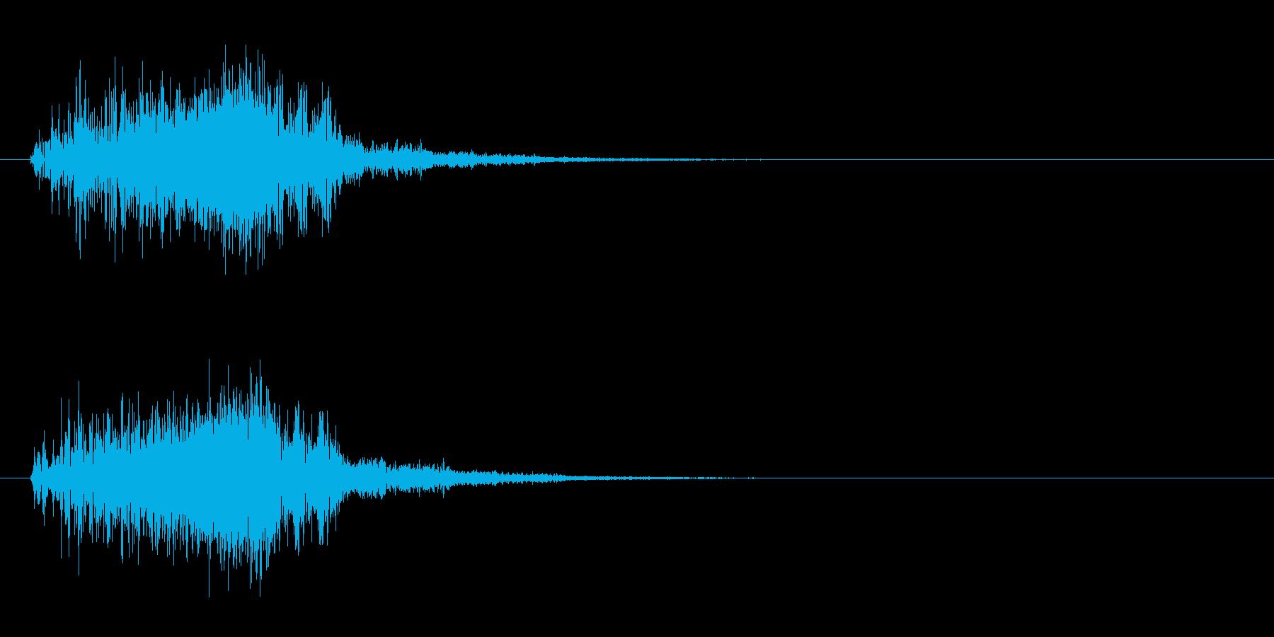 ギュイン(パワーアップ・ワープ・加速音)の再生済みの波形