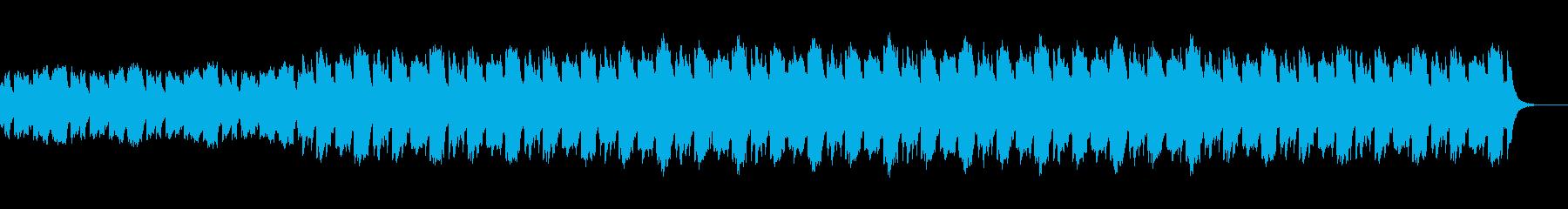 民族風の陽気な曲の再生済みの波形