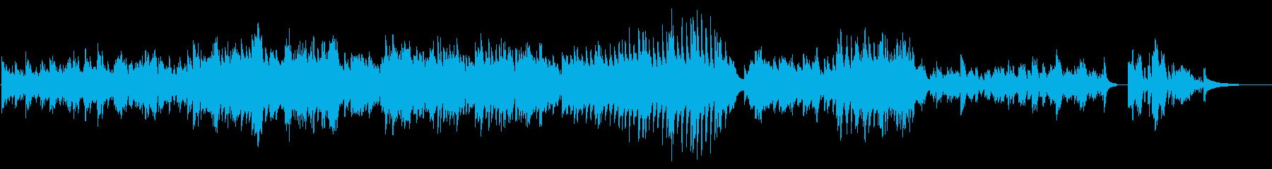 静けさと強い願いの対を表現したピアノ曲の再生済みの波形