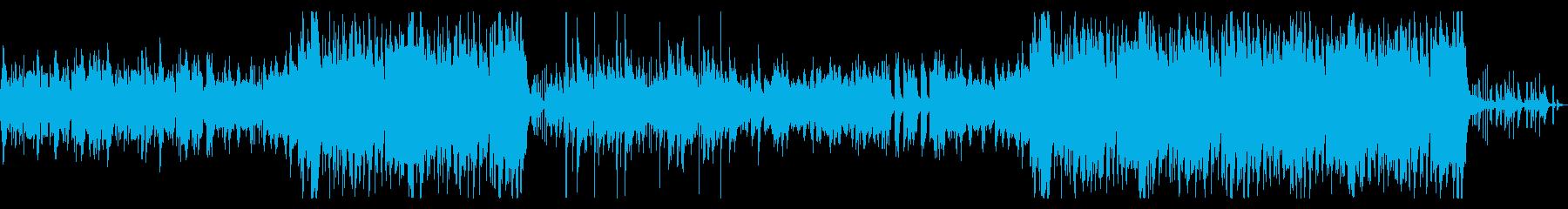 城下町の賑わいのようなファンタジー楽曲の再生済みの波形
