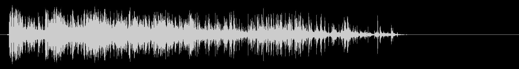 ヘビーウッドデブリドリップウッドヒットの未再生の波形