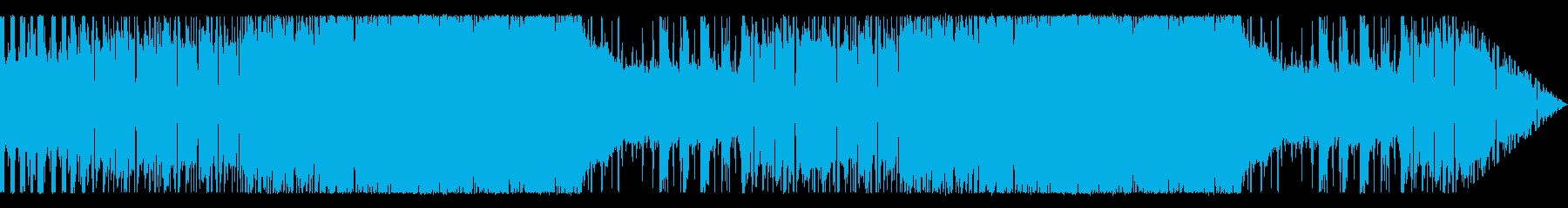 疾走感のあるロックギターサウンドの再生済みの波形