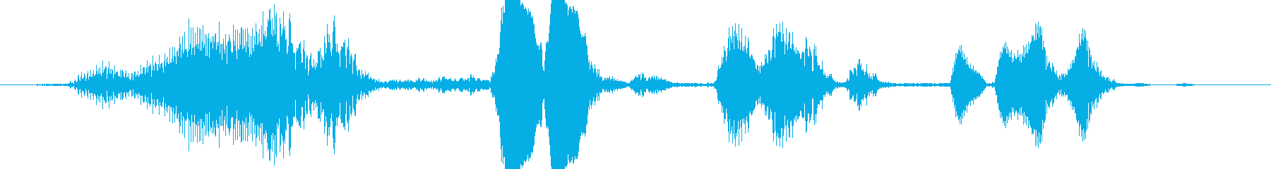 小型モンスターの笑い声02の再生済みの波形