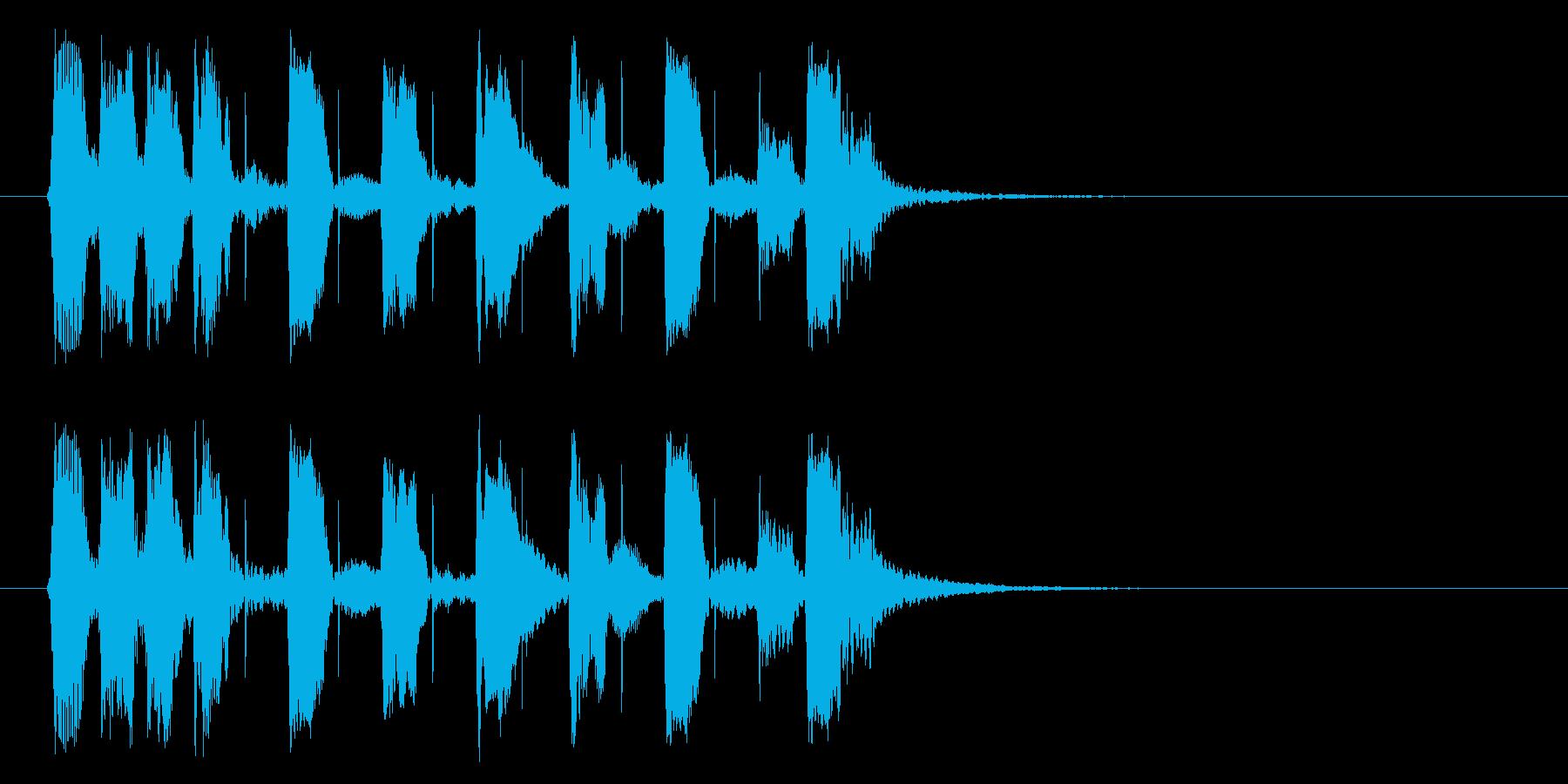 ベースの響きがかっこいいBGMの再生済みの波形