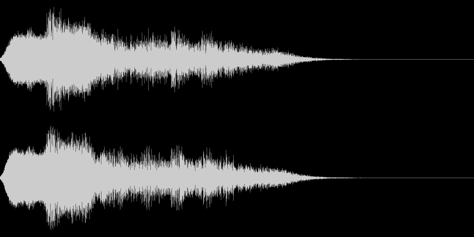 ハッピーニューイヤー ボイス&花火ロゴ1の未再生の波形