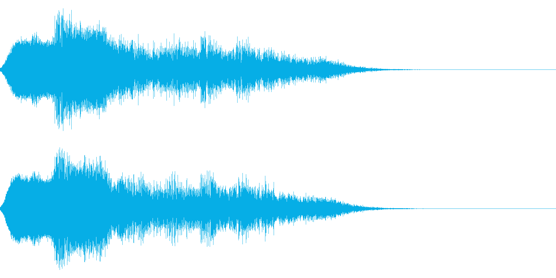 ハッピーニューイヤー ボイス&花火ロゴ1の再生済みの波形