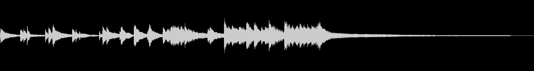 和風のジングル8b-タックピアノの未再生の波形