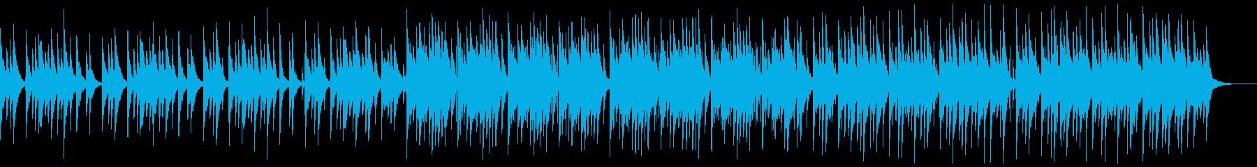 素朴な琴がメインの落ち着いた和風曲の再生済みの波形