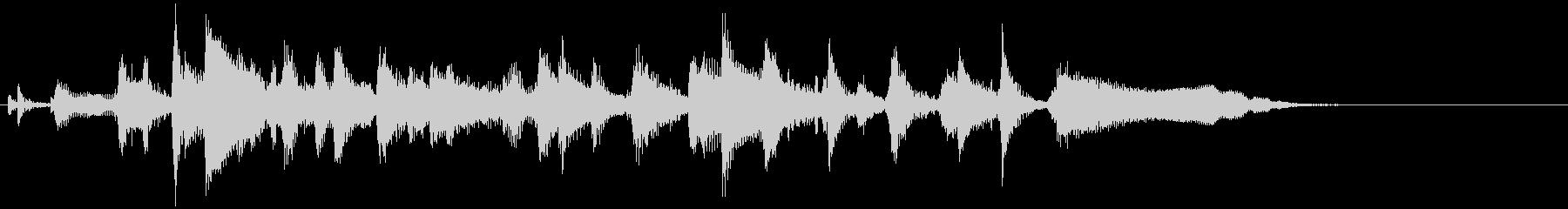 ジャズトロンボーンのおしゃれなジングルの未再生の波形