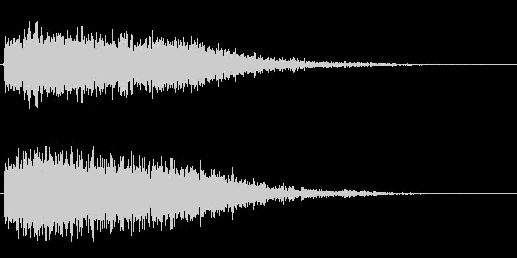 フェーザー(回転音)の未再生の波形