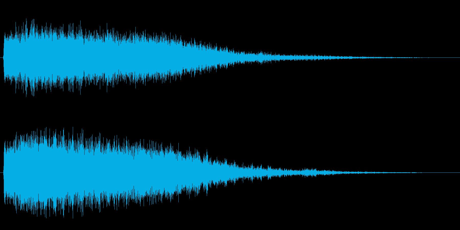 フェーザー(回転音)の再生済みの波形