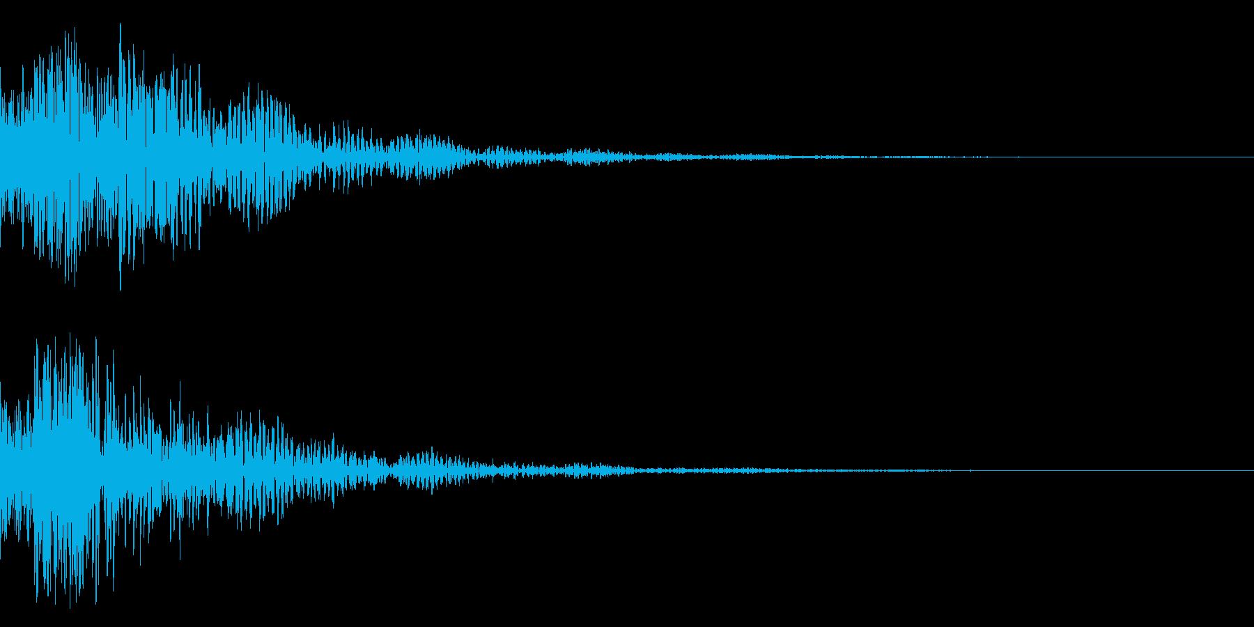 ドドン!(迫力ある太鼓と和風鼓の音)02の再生済みの波形
