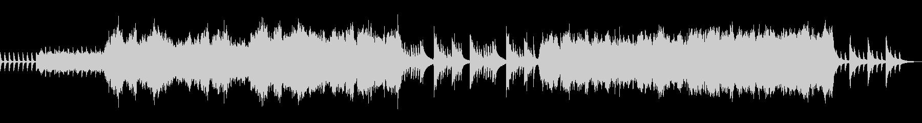 ピアノメロディー。クレッシェンド。の未再生の波形