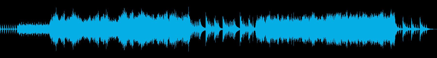 ピアノメロディー。クレッシェンド。の再生済みの波形