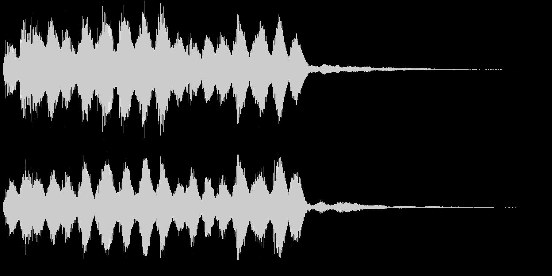 ピロリーン_場面やカットの変更音の未再生の波形