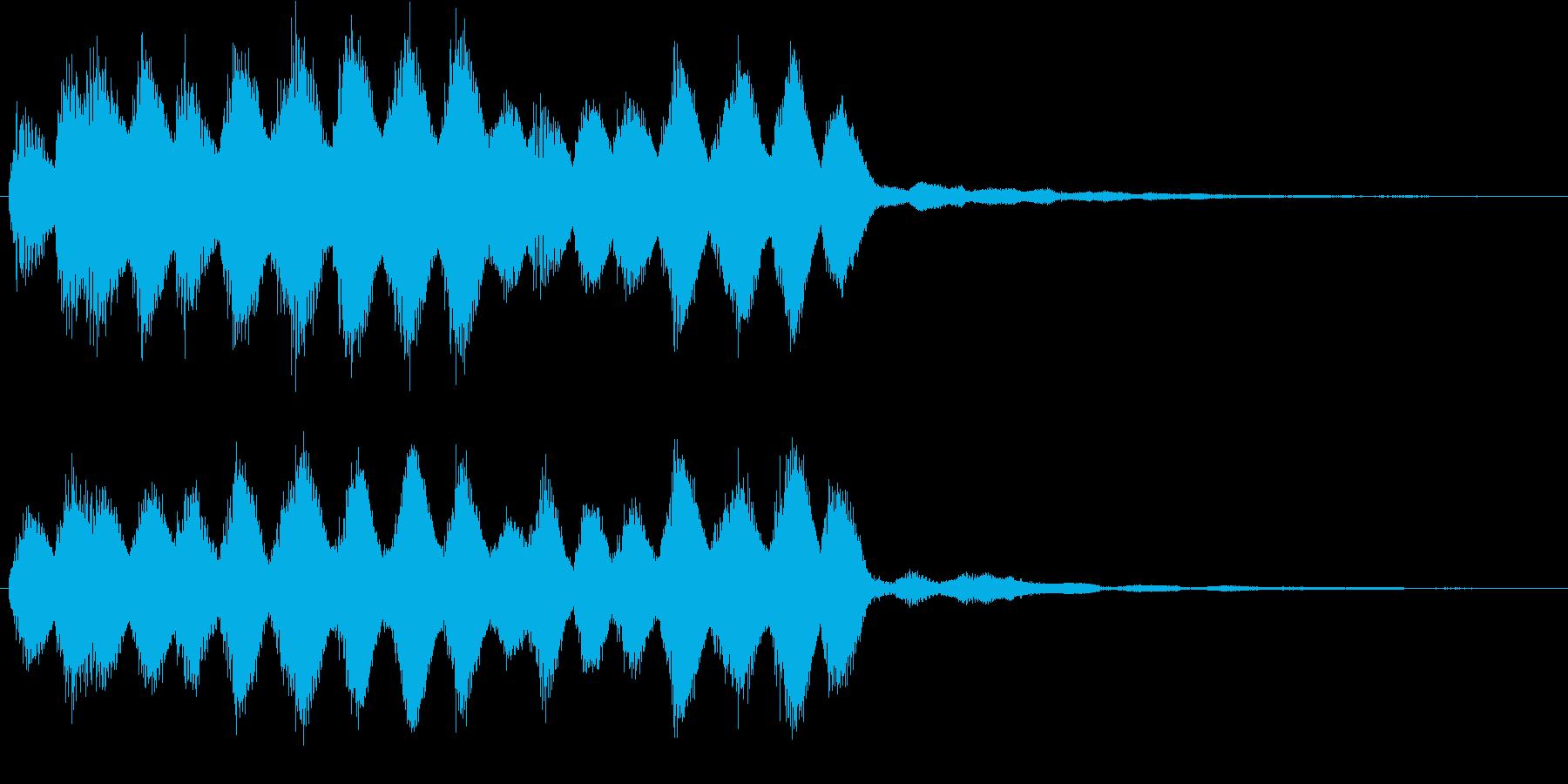 ピロリーン_場面やカットの変更音の再生済みの波形