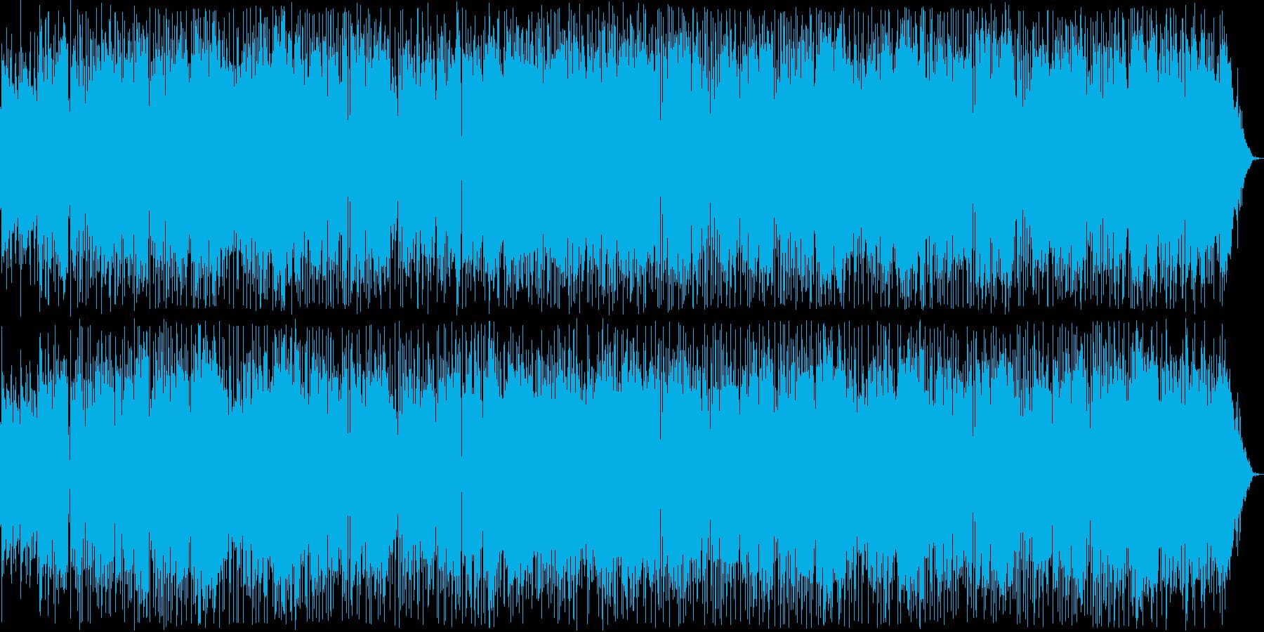 爽やかなボサノヴァギター・シンセサウンドの再生済みの波形