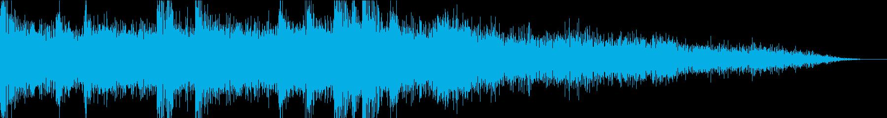 近未来的で疾走感のあるジングルの再生済みの波形