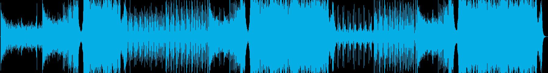 最新EDMHouseテンション上がる曲の再生済みの波形