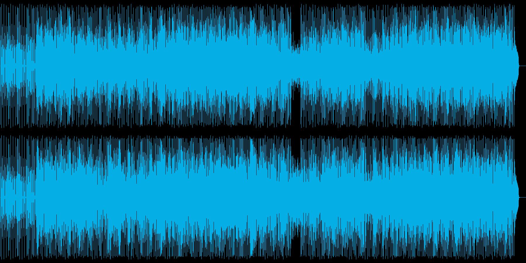 スネアの効いたシンセサイザーの曲の再生済みの波形