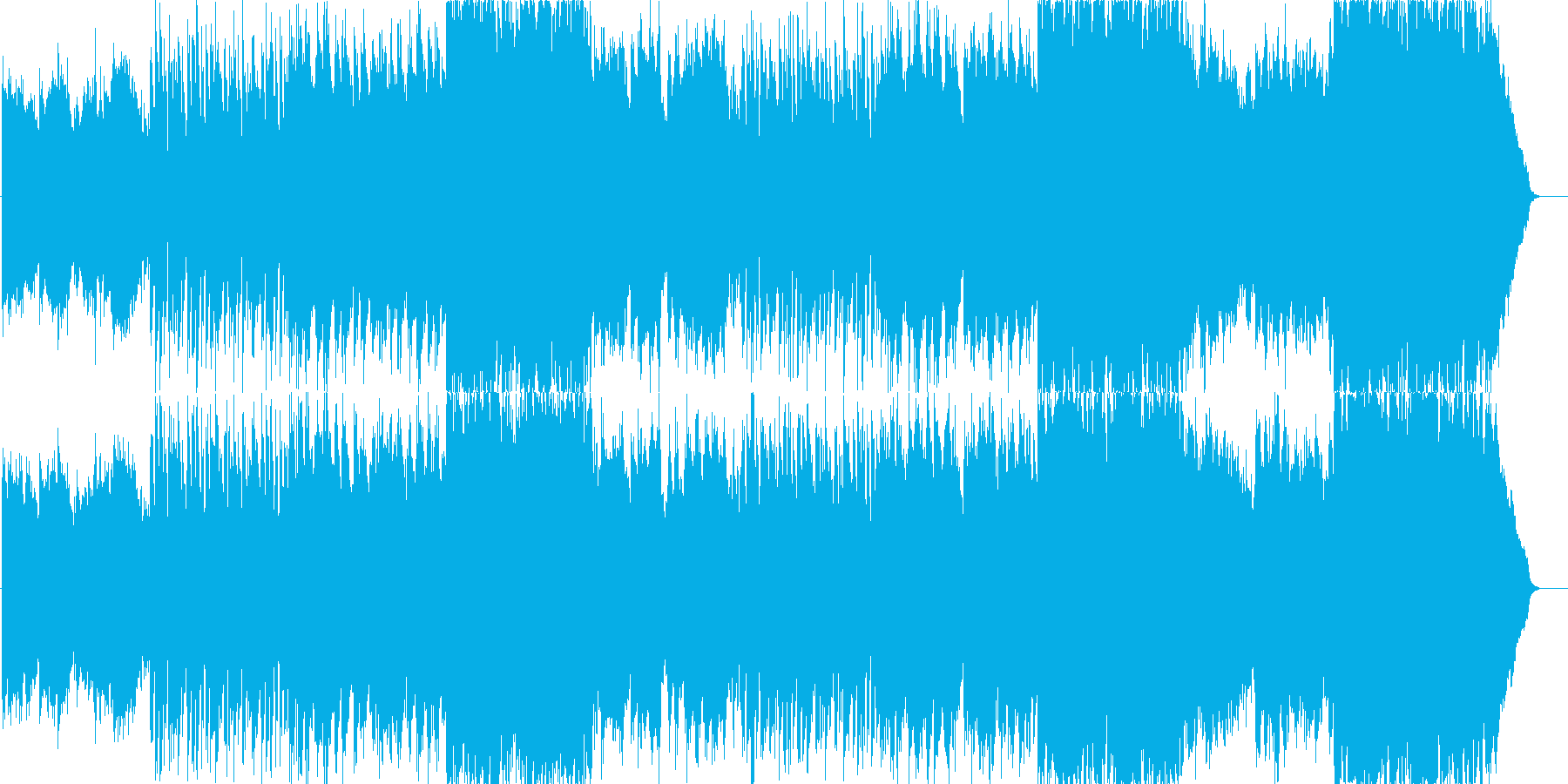 一日の始まりをイメージした癒し系の曲の再生済みの波形