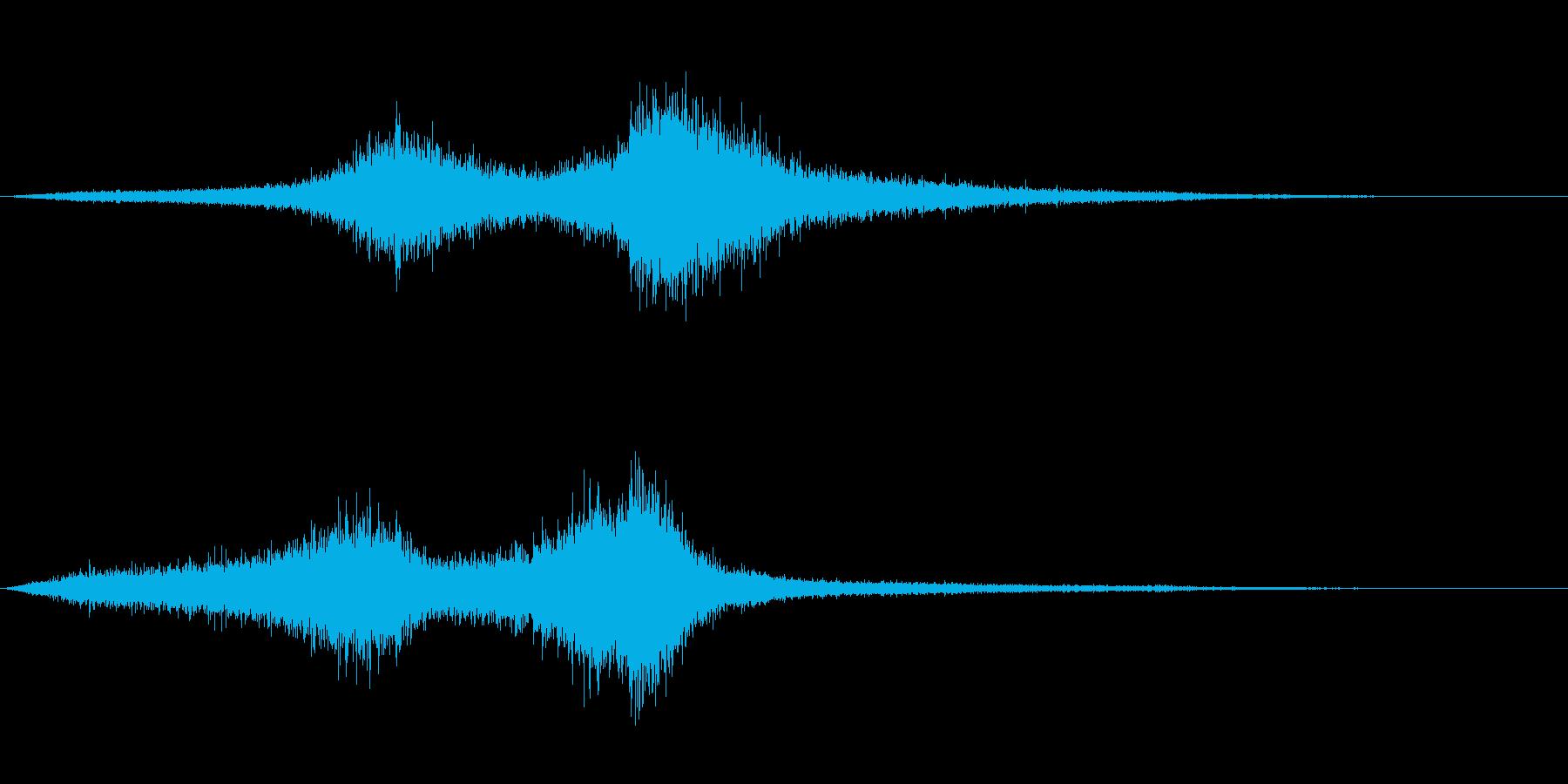 【生録音】 早朝の街 交通 環境音 4の再生済みの波形