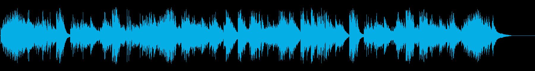 休日の午後の安らぎのピアノソロの再生済みの波形
