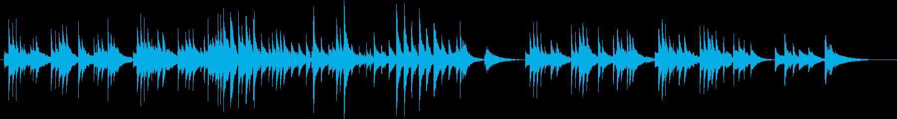 ギターが切ないアコースティックバラードの再生済みの波形