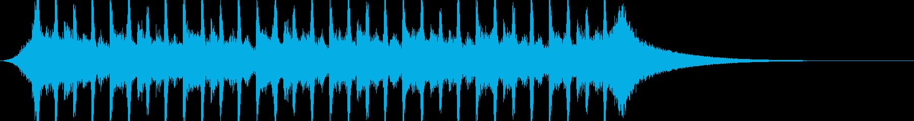 企業VP系38、爽やかギター4つ打ちcの再生済みの波形
