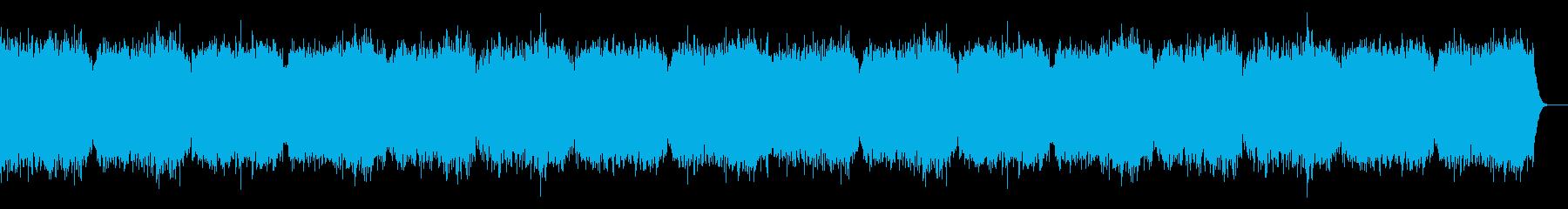 YouTube ホラー、不気味なBGMの再生済みの波形