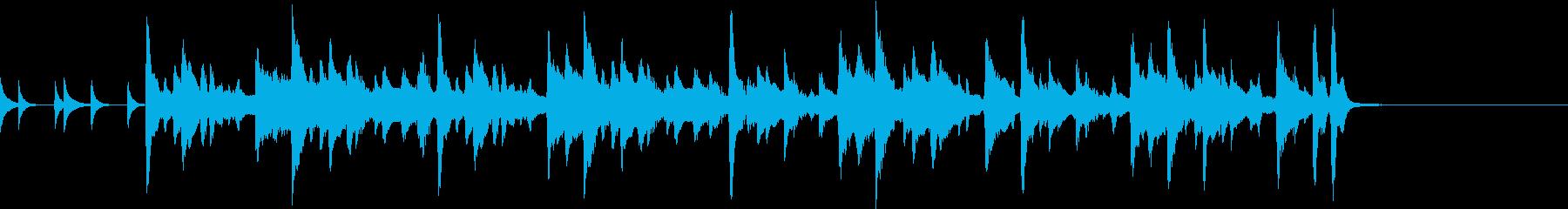マリンバ ウクレレ 打楽器 ジングル1の再生済みの波形