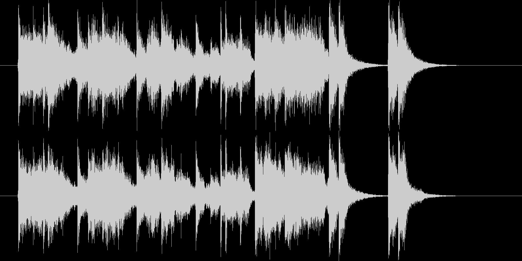 ムーディーでメローなトランペットジングルの未再生の波形