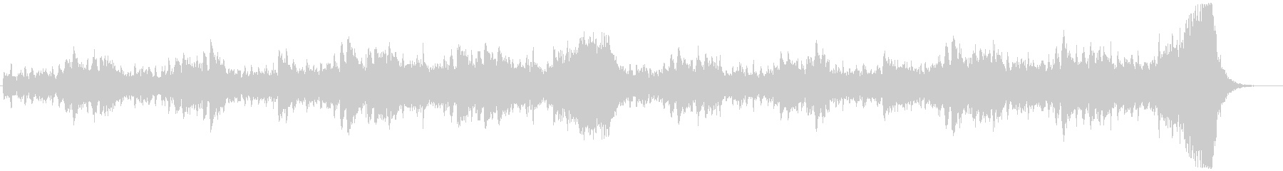 静かで緊張感のあるオーケストラ系のBGMの未再生の波形