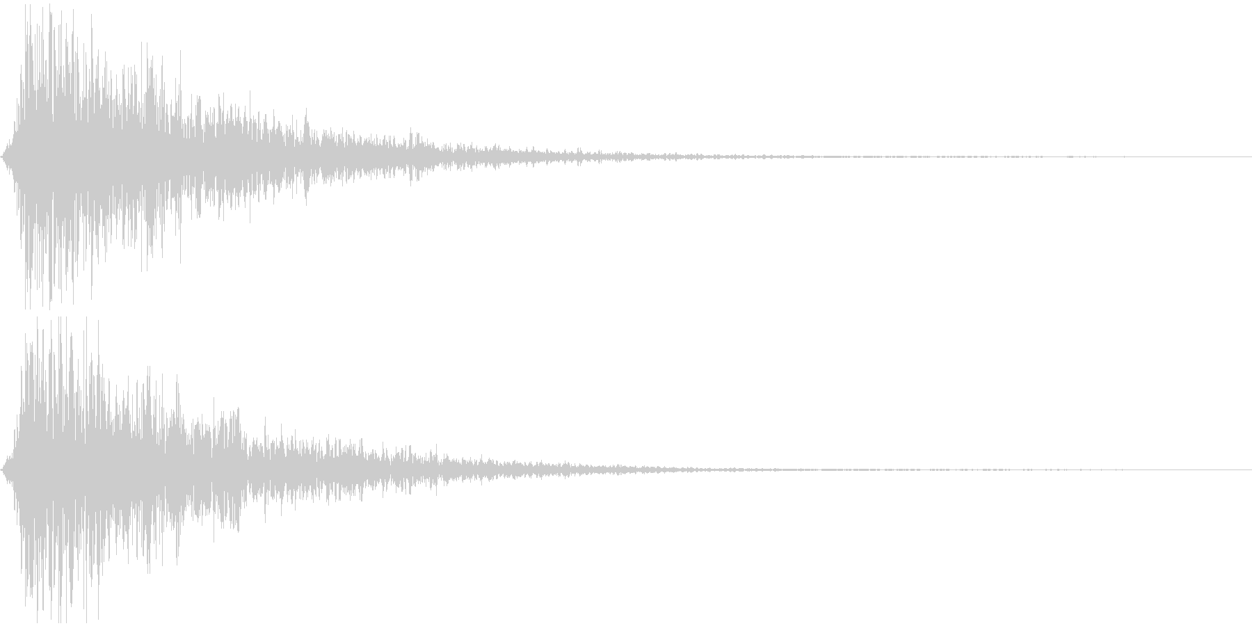 ボーーッ ヒョーーッ 長めの炎 火炎放射の未再生の波形