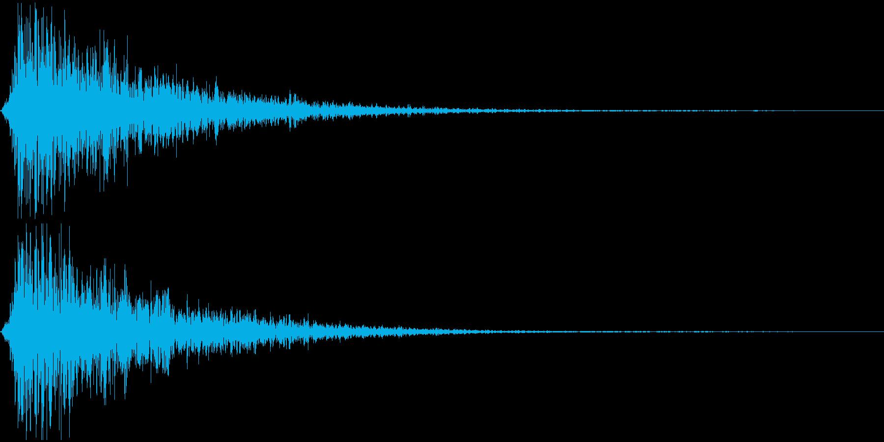 ボーーッ ヒョーーッ 長めの炎 火炎放射の再生済みの波形