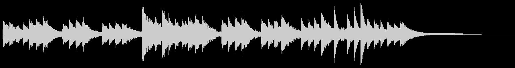 切ない和音のもの憂げな秋のピアノジングルの未再生の波形