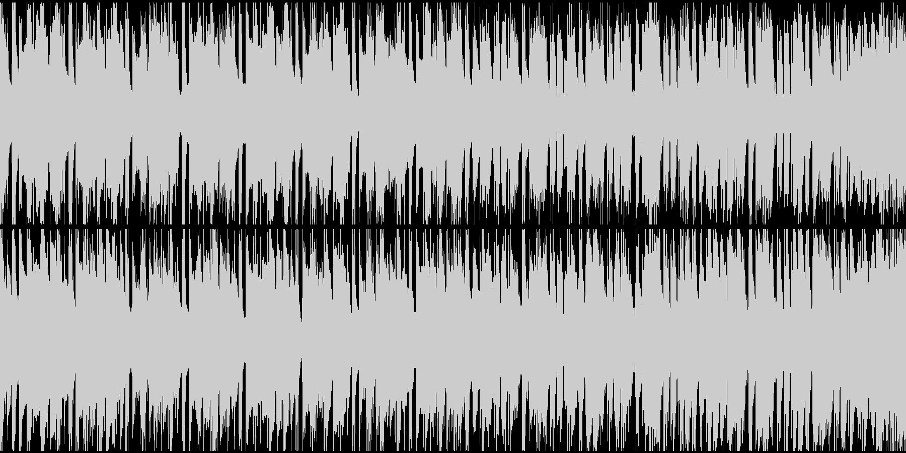 和風動画向け琴フュージョンループ1の未再生の波形