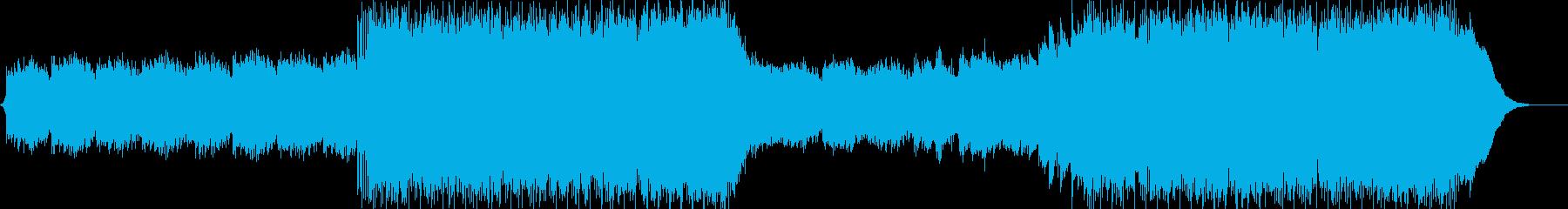 綺麗でなめらかなメロディーの再生済みの波形