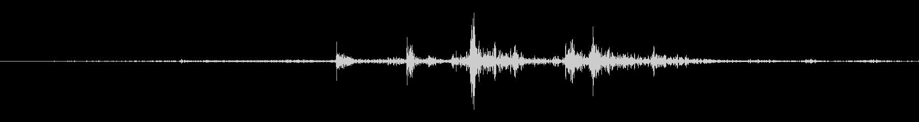 [紙]紙をめくる音2(すばやく)の未再生の波形