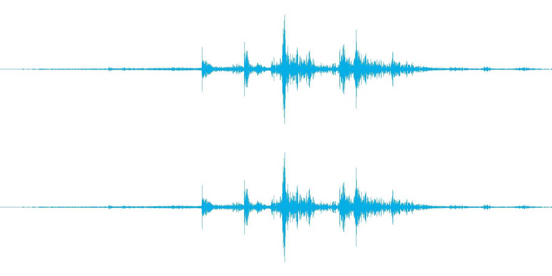 [紙]紙をめくる音2(すばやく)の再生済みの波形