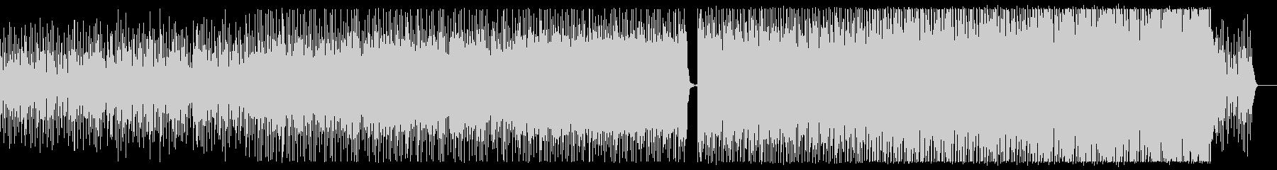 機械軍が行進する様なエレクトリックビートの未再生の波形