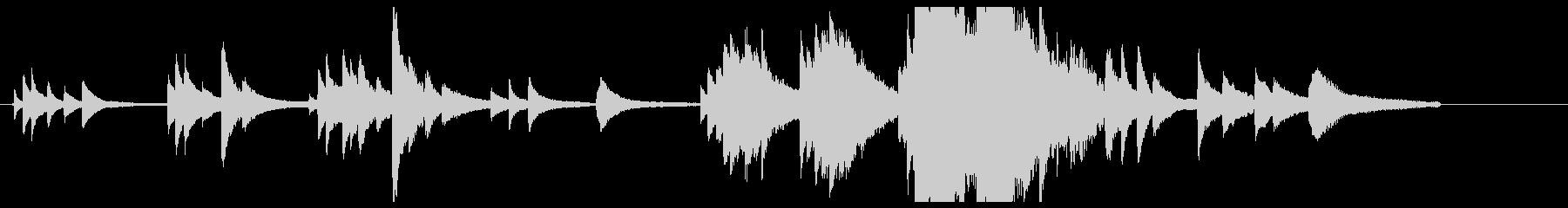 儚い、ピアノとストリングスの短いテーマの未再生の波形
