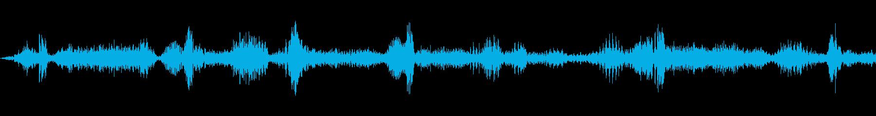 ラジオスキャン3の調整の再生済みの波形