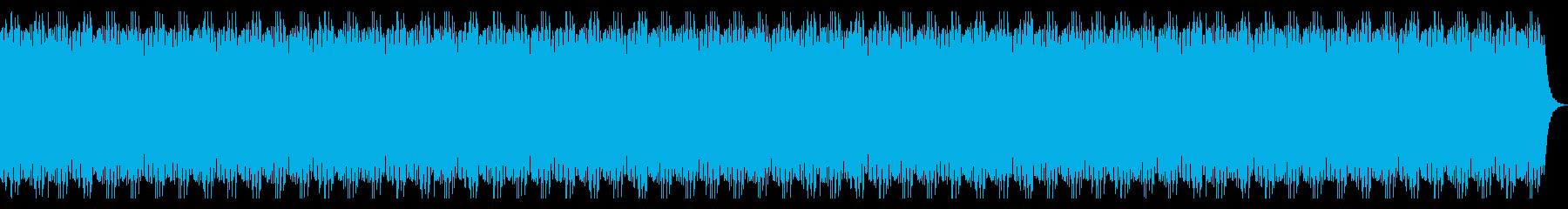 和の雰囲気のBGMの再生済みの波形