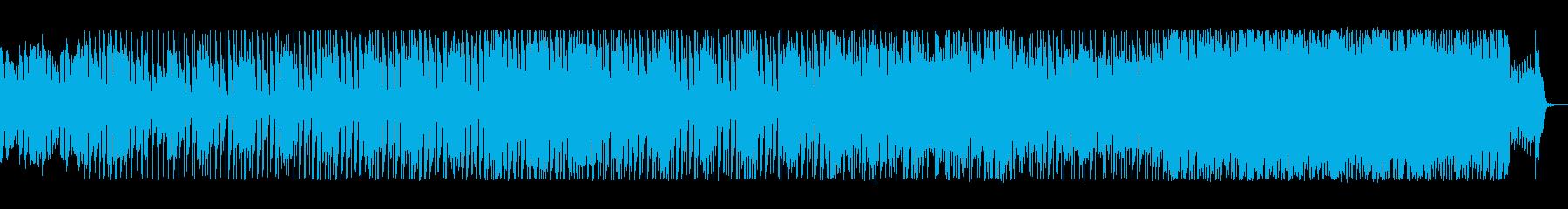 明るい前向きなワクワクするポップな曲の再生済みの波形